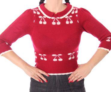 50er retro Kelsey Kirschen Cherry Pullover Jumper Strickshirt v. SugarShock – Bild 9