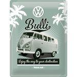 VW Retro Bulli Logo 50er retro Blechschild v. Nostalgic Art 001