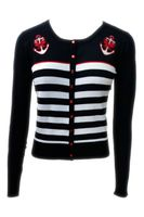 Private Party Streifen Anker Strickweste retro Cardigan v. Banned 001