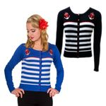 Private Party Streifen Anker Strickweste retro Cardigan v. Banned
