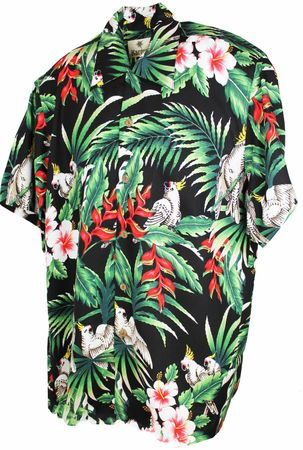 Karmakula Paradise Birds retro Hawaii Hemd
