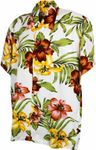 Karmakula retro Hawaii Blüten Hemd Hawaiian Flower Shirt 001