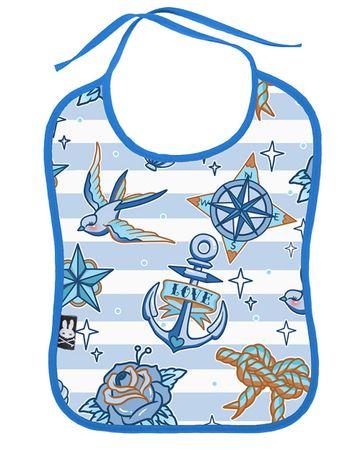 Nautica Sailor Streifen Baby Lätzchen v. Six Bunnies