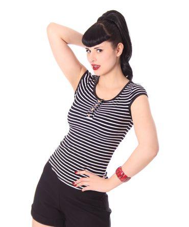 50s retro Bernetta Streifen Sailor T-Shirt v. SugarShock – Bild 2