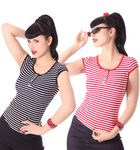 50s retro Bernetta Streifen Sailor T-Shirt v. SugarShock