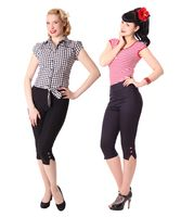 Steena 50er retro Pin Up Caprihose 3/4 Hose v. SugarShock