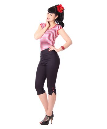 Steena 50er retro Pin Up Caprihose 3/4 Hose v. SugarShock – Bild 2
