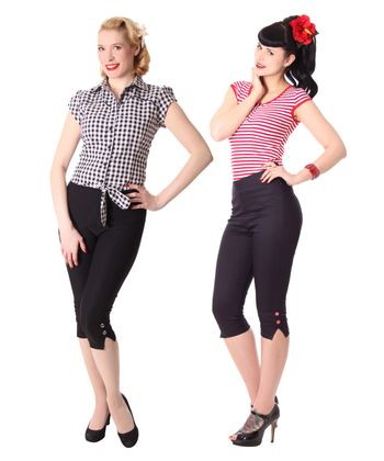 Steena 50er retro Pin Up Caprihose 3/4 Hose v. SugarShock – Bild 1