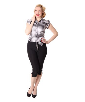 Steena 50er retro Pin Up Caprihose 3/4 Hose v. SugarShock – Bild 9