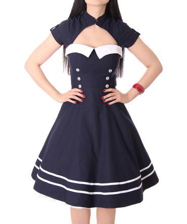 Harbor 40er retro Sailor retro Swing Matrosen Uniform Kleid v. SugarShock – Bild 5