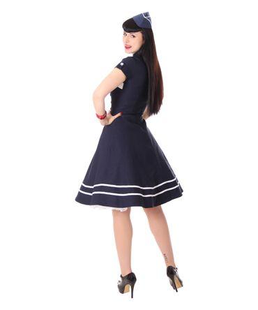 Harbor 40er retro Sailor retro Swing Matrosen Uniform Kleid v. SugarShock – Bild 7