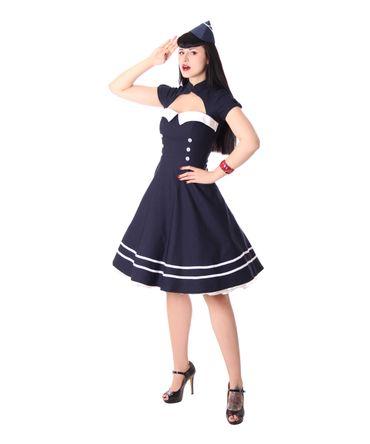 Harbor 40er retro Sailor retro Swing Matrosen Uniform Kleid v. SugarShock – Bild 2