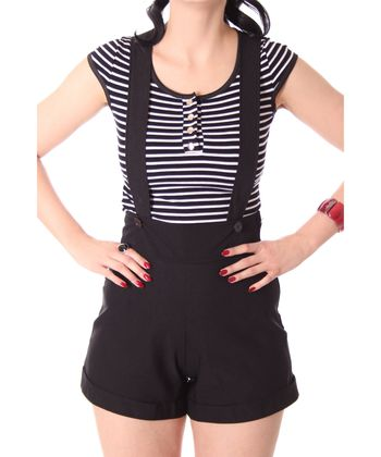Brienna Suspender Hosenträger High Waist Shorts  v. SugarShock – Bild 18