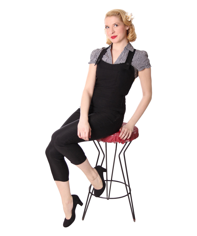 breen 50er retro pin up dugarees caprihose 3 4 hose. Black Bedroom Furniture Sets. Home Design Ideas