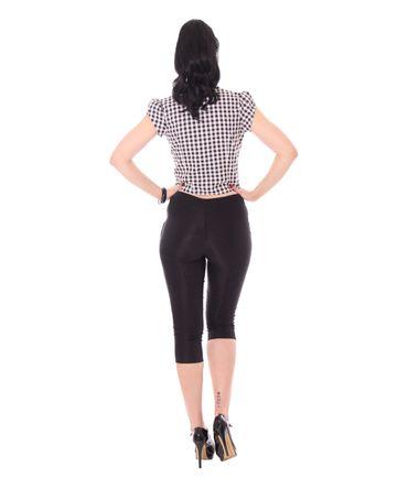 Julina 50s Pin Up Style retro Gingham Binde Bluse v. SugarShock – Bild 8