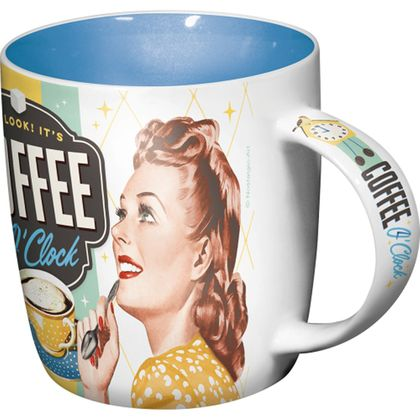 Coffee O' Clock 50s retro Tasse v. Nostalgic Art
