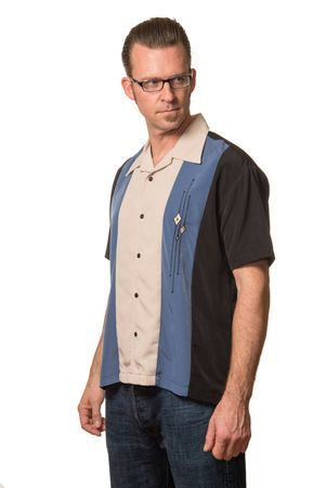 The Trinity Panel Loungeshirt Casino Shirt Herren Hemd v. Rock Steady Clothing – Bild 3