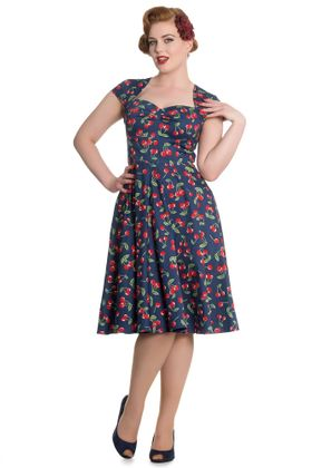 April 50s Cherry retro Kirschen Swing Kleid v. Hell Bunny – Bild 3