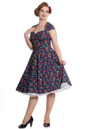 April 50s Cherry retro Kirschen Swing Kleid v. Hell Bunny – Bild 1