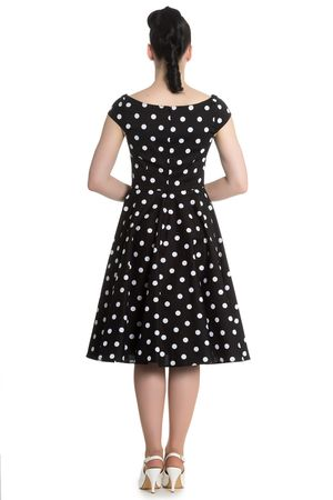 Nicky 50s retro Polka Dots Swing Petticoat Kleid v. Hell Bunny – Bild 2
