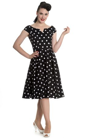 Nicky 50s retro Polka Dots Swing Petticoat Kleid v. Hell Bunny
