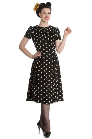 Madden 40er Jahre retro Polka Dots Kleid v. Hell Bunny – Bild 1