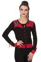 Captivated 2-tone Strickweste retro Tattoo Cardigan v. Banned 001