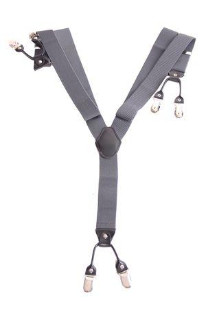 Unisex retro Hosenträger Suspenders m. Y-Schlaufe Clips Plain – Bild 12