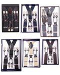 Unisex retro Hosenträger Suspenders m. Y-Schlaufe Clips Plain