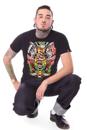 Siren Sea oldschool Männer Tattoo T-Shirt v. Liquor Brand – Bild 2