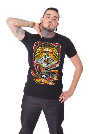 Last Port oldschool Männer Tattoo T-Shirt v. Liquor Brand – Bild 1
