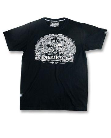 La Vida Mexican Skull Männer Tattoo T-Shirt v. Liquor Brand – Bild 2
