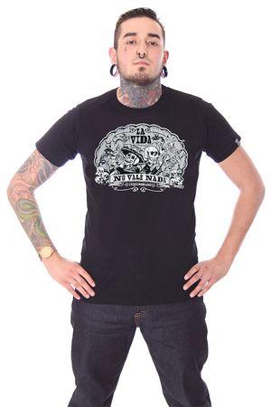 La Vida Mexican Skull Männer Tattoo T-Shirt v. Liquor Brand – Bild 1