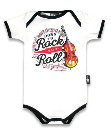 Born to Rock n Roll Baby Body Strampler v. Six Bunnies