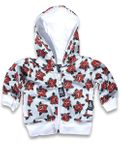 cute Tattoo Roses Six Bunnies Baby Hoodie Kapuzen Sweatjacke