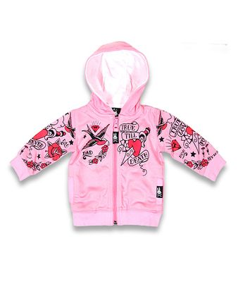 Tattoo True Love Forever Six Bunnies Baby Hoodie Kapuzen Sweatjacke – Bild 1
