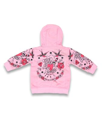 Tattoo True Love Forever Six Bunnies Baby Hoodie Kapuzen Sweatjacke – Bild 2