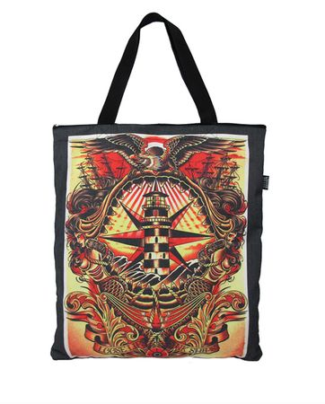 Loose Lips Canvas Tattoo Tote Bag Trage Tasche v. Liquor Brand