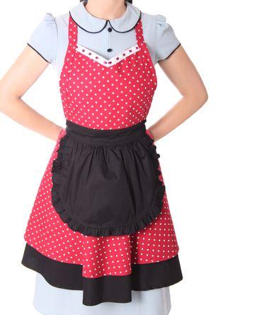 Julissa 50er retro Diner Polka Dots Latz Kochschürze Schürze v. SugarShock – Bild 3