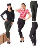 Alexia retro Pin Up Zigarettenhose High Waist skinny Hose v. SugarShock