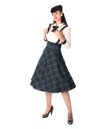 Valentina Tartan retro Petticoat Swing Hosenträger Teller Suspender Rock v. SugarShock – Bild 1