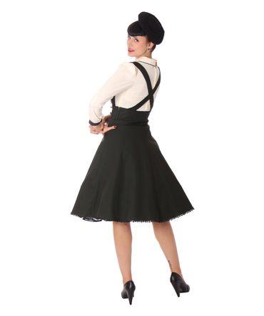 Valentina 50er retro Uniform Petticoat Hosenträger Teller Rock v. SugarShock – Bild 9