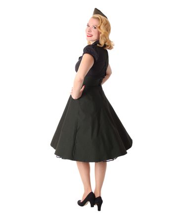 Carlyn 50er retro Military Swing Hosenträger Suspender Uniform Petticoat Kleid v. SugarShock – Bild 7