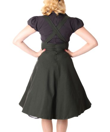Carlyn 50er retro Military Swing Hosenträger Suspender Uniform Petticoat Kleid v. SugarShock – Bild 6