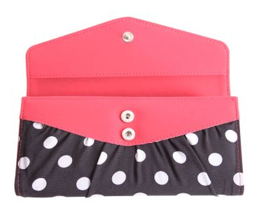 50er retro Jolin Polka Dots Pin Up Geldbörse groß v. SugarShock – Bild 3