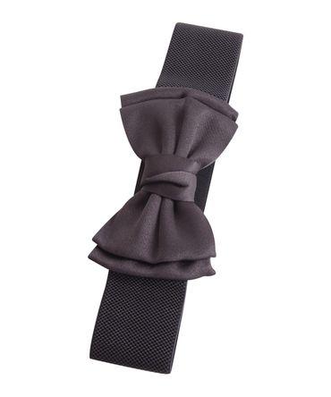 Schleifen Struktur Gummizuggürtel 50s retro Petticoat Bow Stretchgürtel – Bild 2