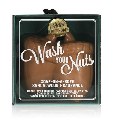 Hello Handsome - wash your nuts soap Sandelwood Seife – Bild 1