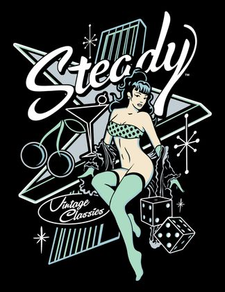 Atomic 50s retro Pin Up Girlie T-Shirt v. Rock Steady Clothing – Bild 2