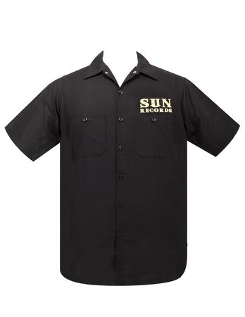 Record Hop Rockabilly Workshirt retro Herren Hemd Worker Shirt v. Sun Records – Bild 2