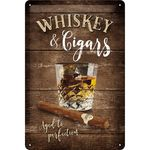 Whiskey retro Bar Blechschild v. Nostalgic Art 001